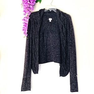 Converse one star knot knit shrug